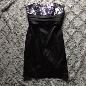 Strapless tuxedo dress